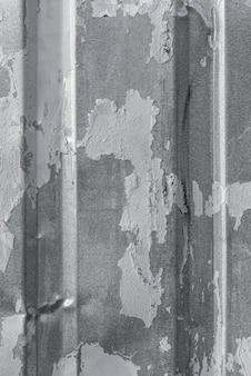 Vue de dessus de la surface métallique avec des crêtes