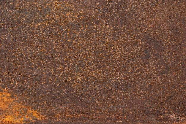 Vue de dessus de la surface métallique rouillée