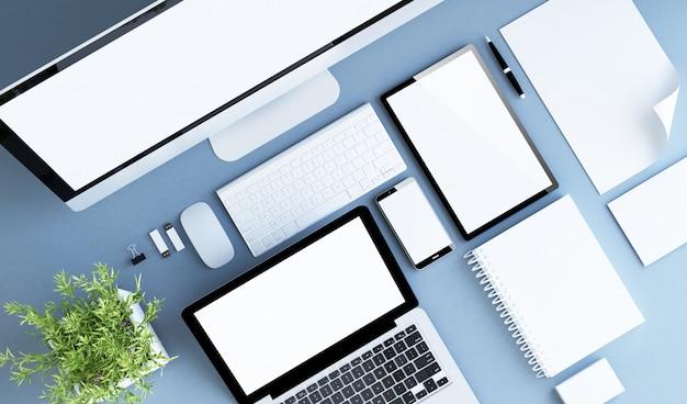 Vue de dessus de la technologie d'entreprise