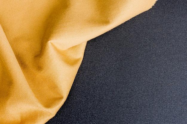 Vue de dessus texture classique dorée avec espace copie