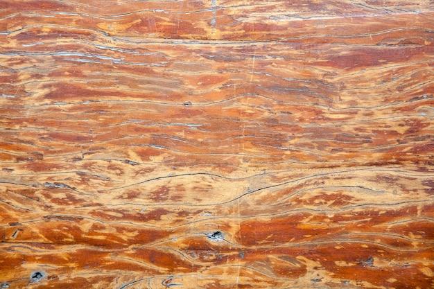 Vue de dessus de la texture du bois ancien, naturel en bois brun foncé pour le fond.