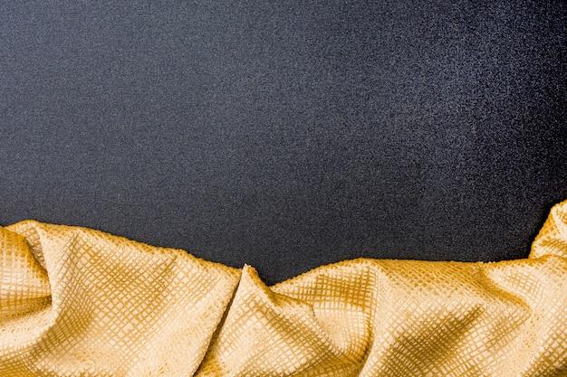 Vue de dessus texture ligne dorée avec espace copie
