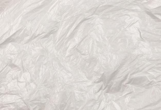 Vue de dessus de la texture plastique transparente
