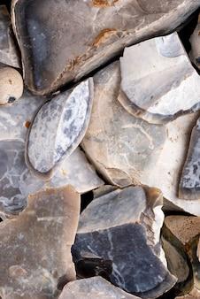 Vue de dessus de la texture de la roche naturelle