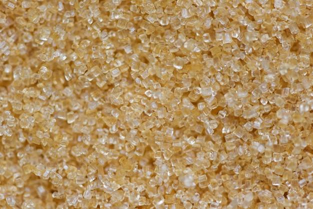 Vue de dessus de texture de sucre brun - gros plan de sucre