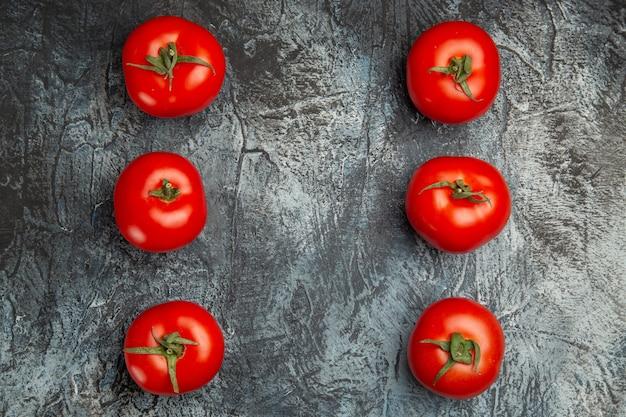 Vue de dessus tomates rouges fraîches