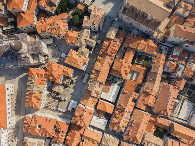 Vue de dessus de la vieille ville de dubrovnik, croatie