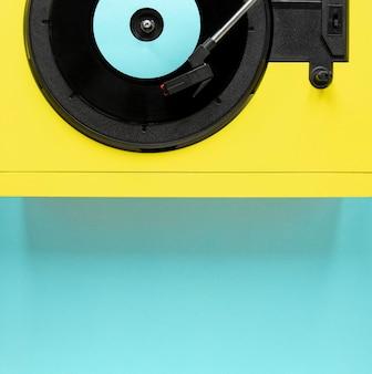 Vue de dessus vieux disque vinyle