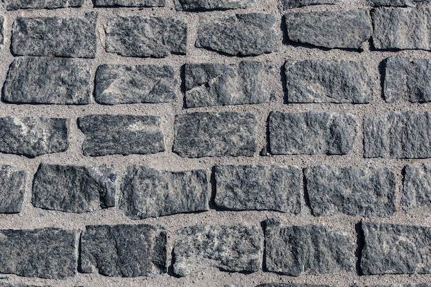 Vue de dessus vieux pavé texture trottoir coddlestone