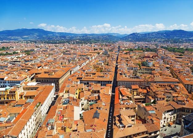 Vue de dessus de la ville de florence.