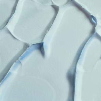 Vue détaillée du fond lisse peinture bleue texturée