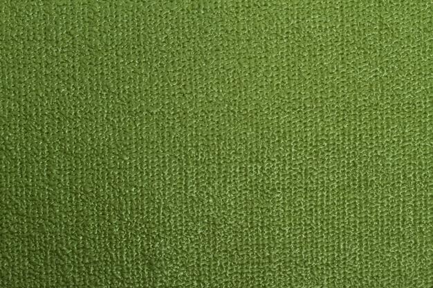 Vue détaillée du tapis de yoga. fond vert