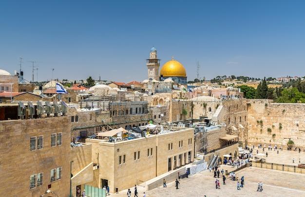 Vue sur le dôme du rocher à jérusalem - israël