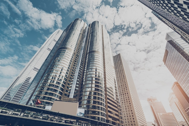 Vue du bâtiment commercial dans le centre de hong kong