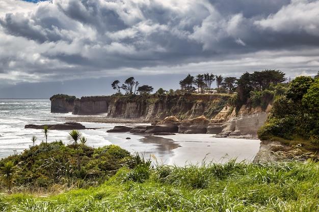 Vue du cap foulwind en nouvelle-zélande