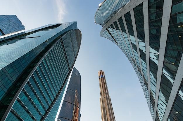 Une vue du centre d'affaires international de moscou - moscou-ville à moscou, russie.