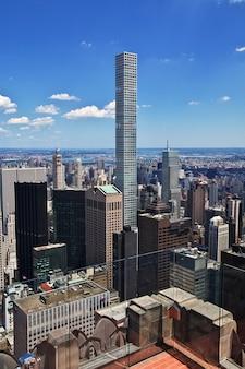 La vue du centre rockefeller à new york, états-unis