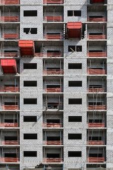Vue du chantier de construction de bâtiments