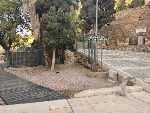 Vue du château de l'alcazaba à malaga