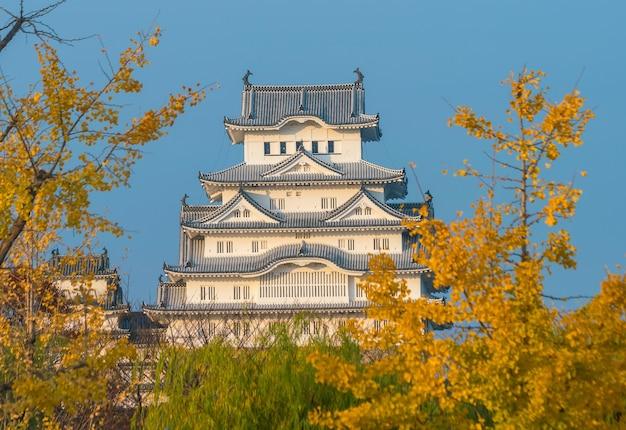 Vue du château de himeji (saison d'automne) à himeji au japon