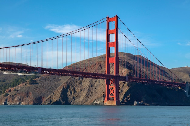 Vue du golden gate bridge. san francisco, californie, états-unis.
