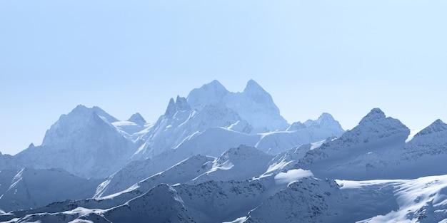 Vue du mont ushba depuis la gare de mir elbrus grand caucase russie