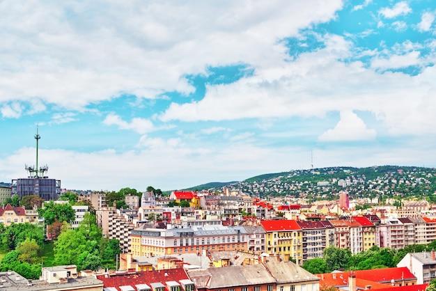 Vue du mont à la ville de budapest- buda.hongrie.