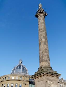 Vue du monument de grey à newcastle upon tyne, tyne and wear le 20 janvier 2018