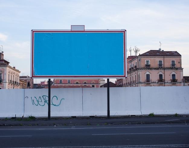 Vue du panneau d'affichage vide