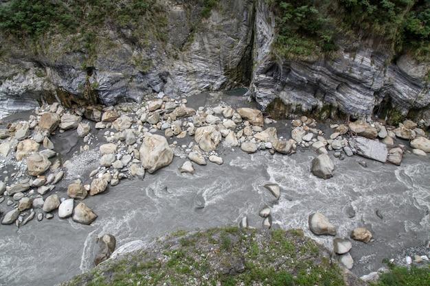 Vue du paysage du parc national de taroko à hualien, taiwan.