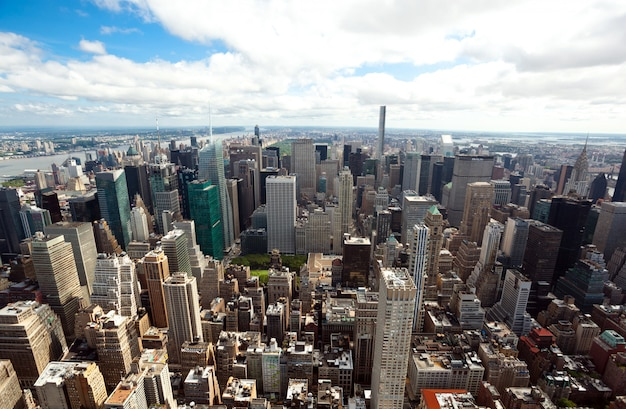 Vue du paysage urbain de manhattan, new york city.