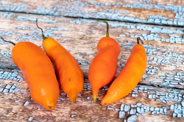 Vue du piment jaune péruvien
