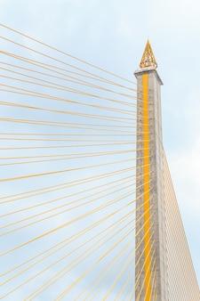 Vue du pont de câbles rama 8.