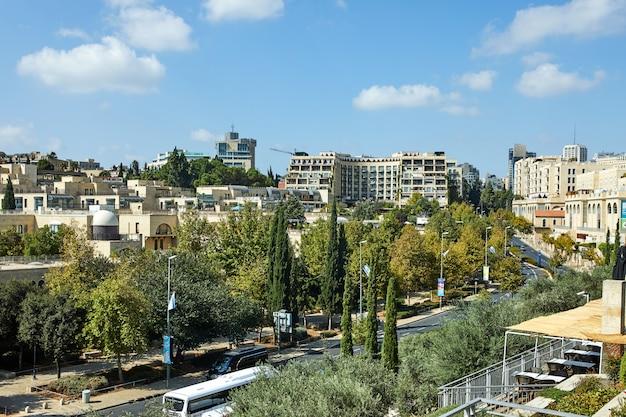 Vue du quartier de jérusalem de yemin moshe