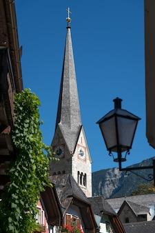 Vue de l'église paroissiale évangélique de hallstatt