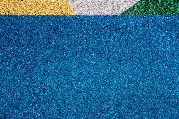 Vue élevée de tapis colorés