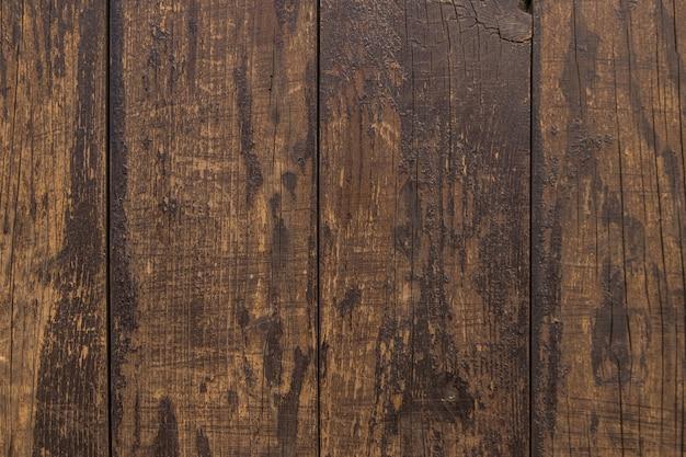 Vue élevée d'un vieux plancher de bois franc