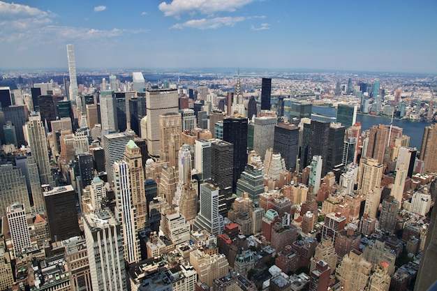 La vue de l'empire state building à new york, états-unis