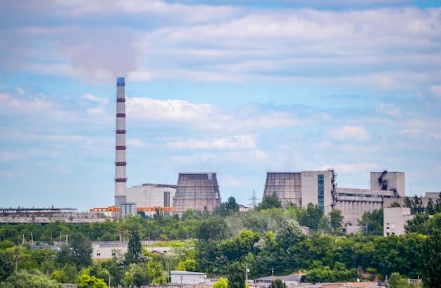 Vue d'ensemble de la centrale thermique