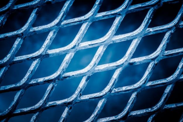 Vue d'ensemble de la clôture du fil de maille