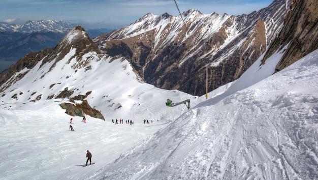 Vue d'ensemble de la station de ski autrichienne dans les alpes