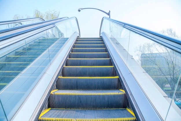 Vue sur l'escalator