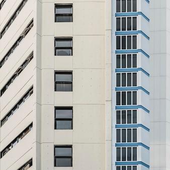 Vue de face de l'architecture de la ville