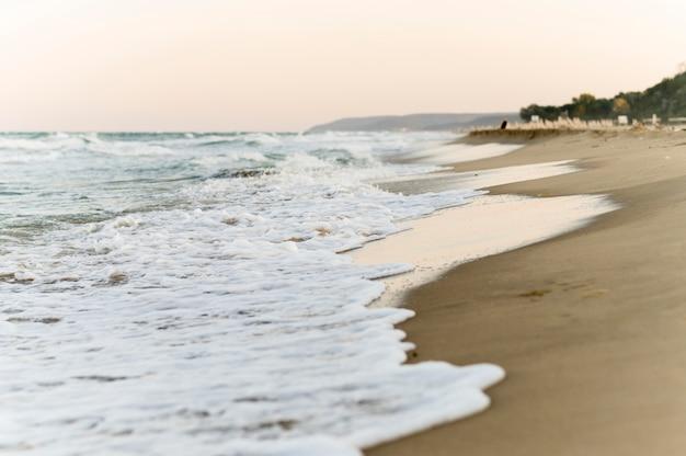 Vue de face de beaux paysages de plage