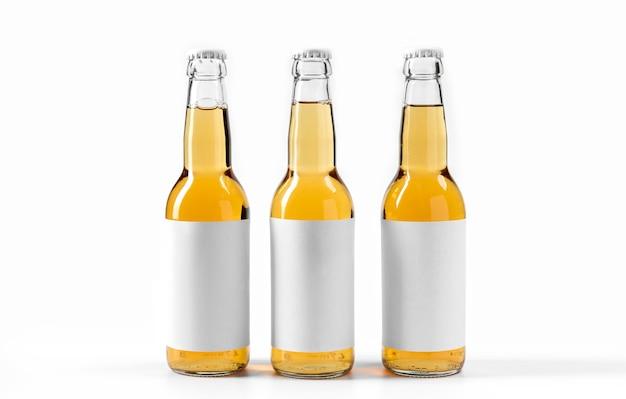 Vue de face des boissons alcoolisées avec des étiquettes vierges