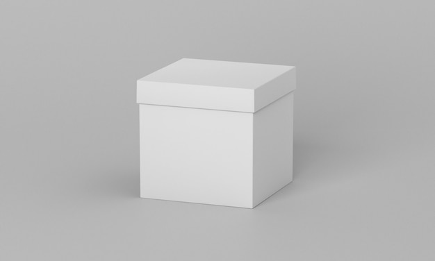 Vue de face de la boîte cadeau blanche