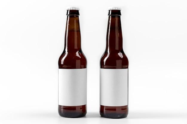Vue de face des bouteilles d'alcool avec des étiquettes vierges