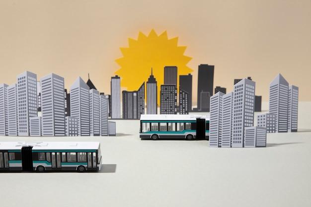 Vue de face de la composition des transports publics