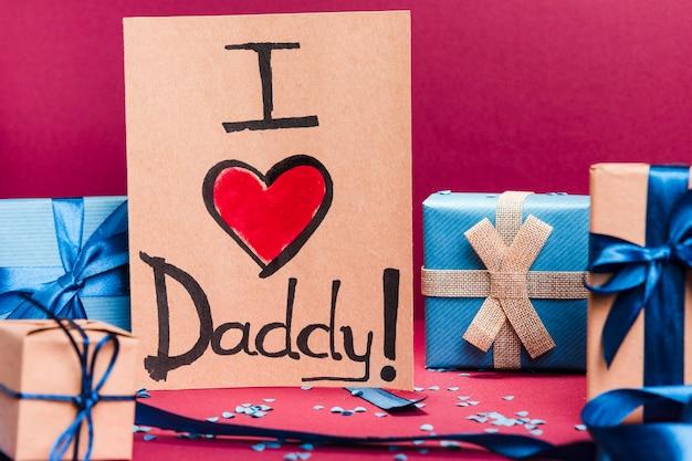 Vue de face concept de dessin de fête des pères