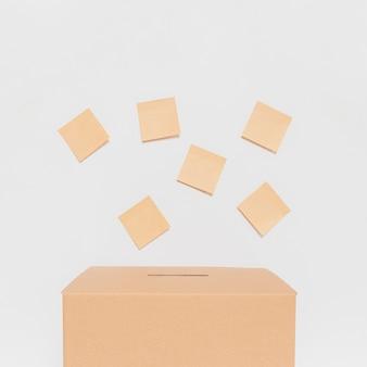 Vue de face du concept des élections avec espace copie
